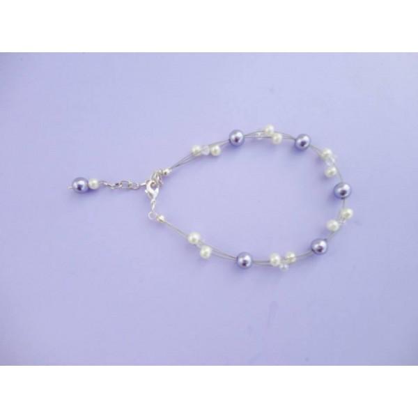 bracelet perle ivoire